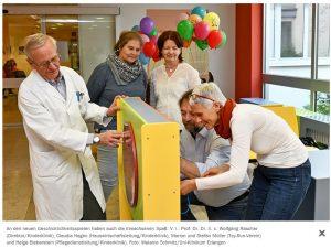 Die neu gestaltete Eingangshalle der Kinderklinik