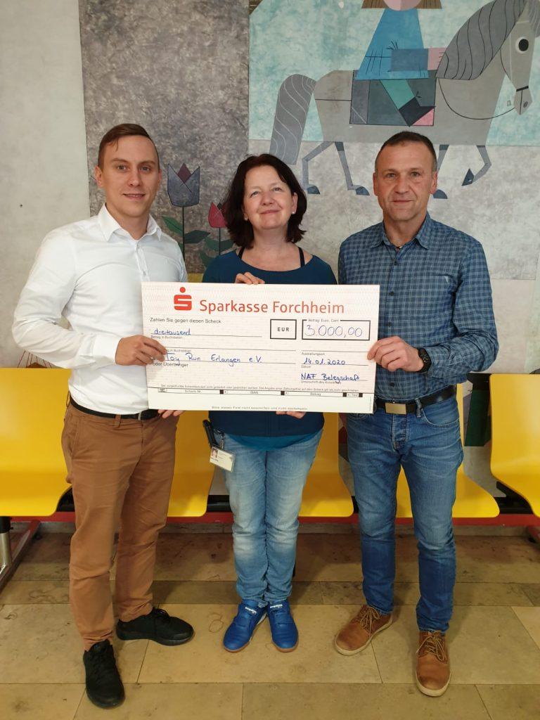 Übergabe der Belegschaftsspende von 3.000€ der NAF AG aus Neunkirchen