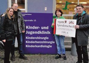 Spendenübergabe des BSC Erlangen von 2.500€ anlässlich ihres 100 jährigen Jubiläums